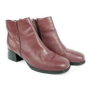 AJ Valenci Bootie Side Zipper with 2 inch heel.